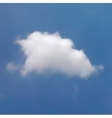 white cloud in blue sky vector image