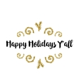 Christmas greeting card on white background with vector image