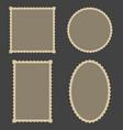 frame blank postage stamps set for frame vector image