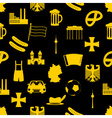 germany country theme symbols seamless pattern vector image