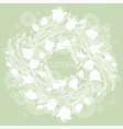 hairline circular floral wreath vector image