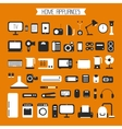 Set of electronic devices and home appliances vector image