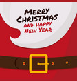 the beard of santa claus with merry christmas vector image