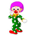 funny clown cartoon vector image