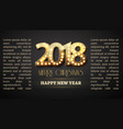 2018 new year count symbol with light bulbs vector image vector image