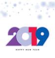 2019 happy new year design vector image