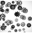 abstract background cogwheel vector image