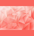 abstract low polygon or triangles pattern on pink vector image