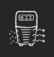 air purifier chalk white icon on black background vector image vector image