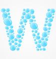 Alphabet Letter W vector image vector image