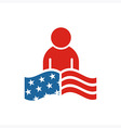 America People USA logo icon vector image vector image