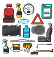 auto spare and means car maintenance vector image vector image