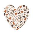 autumn heath shape doodle vector image vector image