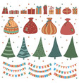 awesome big set of cartoon about christmas and vector image vector image