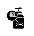 batch number black glyph icon
