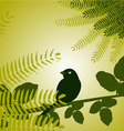 bird with plants vector image vector image