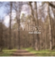 blurred forest background vector image