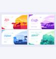 brochures with african animals in natural habitat vector image vector image