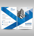 business brochure cover template with blue vector image vector image