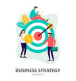 business strategy planning and solution concept vector image