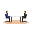 Businesspeople sitting at the table vector image vector image