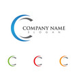 c letter logo template icon design vector image vector image