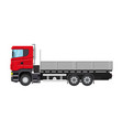 cargo delivery truck with platform vector image vector image