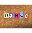 Dance Concept vector image vector image