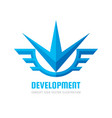 development - concept business logo template vector image vector image