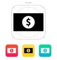 Dollar banknote icon vector image vector image