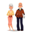 elderly couple man and woman vector image vector image
