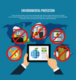 environmental protection concept vector image vector image