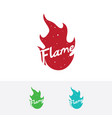 flame logo design vector image