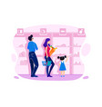 flat big family with mother father and child vector image vector image