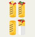 flat design burrito icon vector image