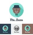 flat modern minimalistic toy bear logo vector image vector image