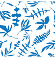 floral foliage seamless pattern vector image vector image