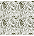 forest seamless pattern Floral backgroundOwl vector image