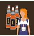 germany oktoberfest beer icons image vector image