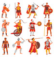 gladiator roman warrior character in armor vector image