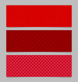 halftone red heart pattern banner template vector image vector image