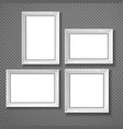 hanging paper sign frame grey picture shadow vector image vector image