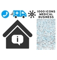 Hint Building Icon with 1000 Medical Business vector image