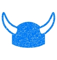 Horned Helmet Grainy Texture Icon vector image vector image