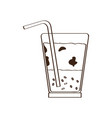 isolated cold coffee icon vector image