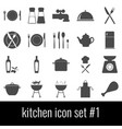kitchen icon set 1 gray icons on white vector image vector image