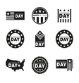 Label and tag set independence day 4th of July vector image vector image