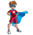 little super boy vector image vector image