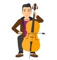 Man playing cello vector image vector image