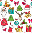 merry christmas holidays seamless pattern vector image vector image